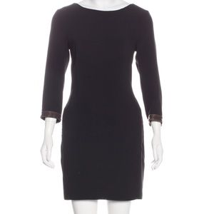 Rag and Bone Leather-trimmer mini dress. Size 6